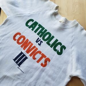 VINTAGE • Notre dame catholic's vs convicts